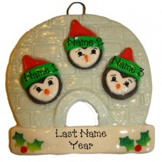 Penguin Family of 3 Ornament